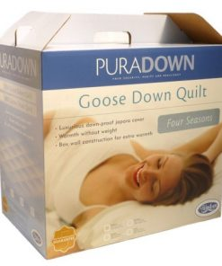 PURADOWN 80% GOOSE DOWN FOUR SEASONS 2 IN 1 SUPERKING DUVET QUILT